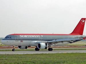 A file photo of a Northwest Airlines plane