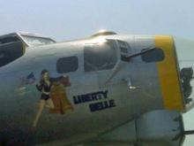 "The Liberty Belle, a restored WWII B-17 ""flying fortress"" bomber, flew again over Raleigh Monday."