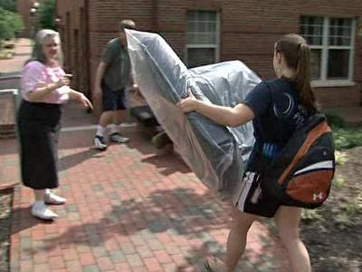 Students began moving into dorms at North Carolina State University on Aug. 14, 2009.