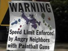 'Paintball' group wants speeding to stop