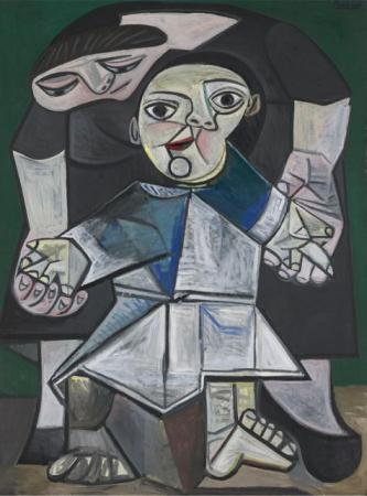 Pablo Picasso, First Steps, Paris, May 21, 1943, revised summer 1943. Oil on canvas, 51. Yale University Art Gallery, Gift of Stephen Carlton Clark, b.a. 1903.  2008 Estate of Pablo Picasso/Artists Rights Society (ARS), New York.