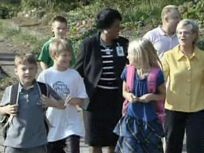 Gov. Bev Perdue kicked off the official first day of school by visiting Conn Magnet Elementary School on Aug. 25, 2009.