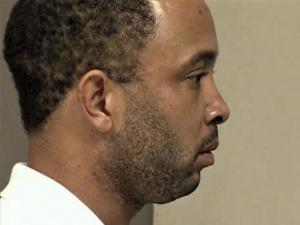 """Corey Lamar Henderson, 33, of 1560 Ferrells Bridge Road in Louisburg, appears in court Wednesday, Sept. 2, 2009, on charges of second-degree murder in the Saturday wreck that killed John Edward """"Eddie"""" Ogburn, 28, of Raleigh."""