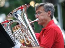 The North Carolina Symphony's Pops in the Park concert.