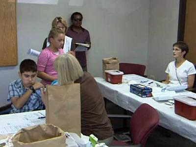 Students went to the Millbrook Human Services Center on Sept. 14, 2009 to take advantage of free Tdap booster shots.