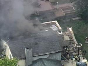 Firefighters battled a blaze on East Millbrook Road in Raleigh Tuesday.