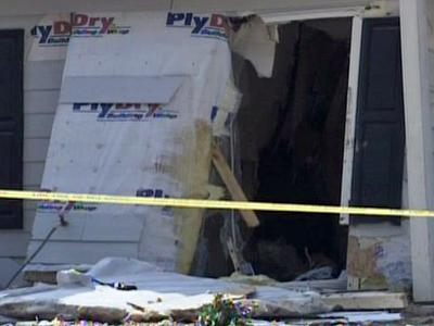 A minivan hit this home at 209 Lawrence Ave. in Fayetteville on Sept. 20, 2009.