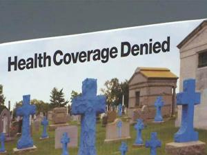 A group pushing for health reform paid for a billboard off the I-440 Beltline in Raleigh to criticize Blue Cross Blue Shield of North Carolina.