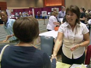 Job seekers and employers connected at the WRAL JobLink Career Expo.