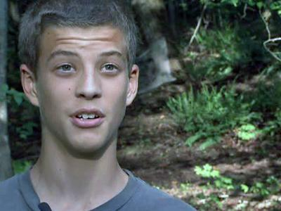 Jesse Frutiger said he was in the woods when a fox approached him and immediately started hissing.