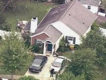 Sky 5 video of terror suspect's home