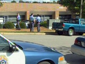 Police converged in west Raleigh Wednesday afternoon, Sept. 30, 2009, after a man discharged a weapon near a business park.
