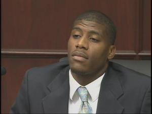 Steven Randolph testifies in court Oct. 1, 2009, against his former roommate, Robert Reaves. Reaves, a former pastor, is on trial for the January 2008 murder of Latrese Curtis, a North Carolina Central University student.