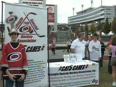 The Triangle Special Hockey Association has a partnership with the Carolina Hurricanes to provide volunteers during home games in exchange for ice time.