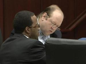 Robert Reaves listens to the state's closing arguments during his murder trial on Oct. 7, 2009. Reaves is accused of killing Latrese Curtis in January 2008 and leaving her body along Interstate 540 in Raleigh.