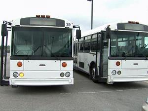 Buses were up for grabs at the Raleigh-Durham Airport Authority surplus property auction on Saturday, Oct. 10, 2009.