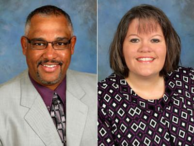 John Wall, of North Garner Middle School, is Wake's 2009 Principal of the Year and Fay Jones, of Forest Pines Drive Elementary, is the 2009 Assistant Principal of the Year.