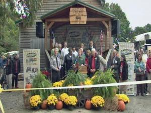 State Fair manager Wyatt Wesley, state Agriculture Commissioner Steve Troxler and Wake County Sheriff Donnie Harrison officially opened the 2009 N.C. State Fair on Oct. 16, 2009.