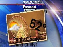Sunday will be cloudy and chilly for the State Fair.