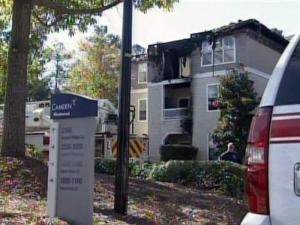 About 50 people were displaced on Oct. 20, 2009, by a fire at the Camden Westwood Apartments in Morrisville.