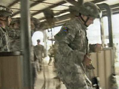 Fort Bragg soldiers participate in training Tuesday.