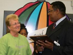 Gwen Johnson of Mangum Elementary School is named Durham Public Schools' Principal of the Year. (Photo courtesy of DPS)