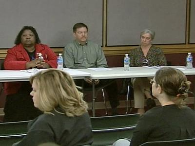 Family members of murder victims spoke at the Chapel Hill Public Library on Saturday, Oct. 31, 2009, about supporting proposed legislation that would recognize unborn children as victims in homicide cases.