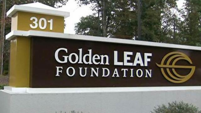 Golden LEAF sign