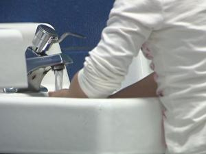 Schools are emphasizing basic hygiene to prevent the spread of flu.