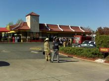 Haz-mat crews have responded to an situation at a McDonald's restaurant, at 7141 Knightdale Blvd., in Knightdale Sunday morning.