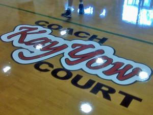 Cary town officials named a basketball court at the Herbert C. Young Community Center after longtime resident and legendary North Carolina State University women's basketball coach Kay Yow on Nov. 14, 2009.