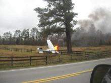 Two survive fiery plane crash