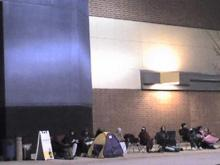 About two dozen people were already lined up outside of the Best Buy store off of Capital Boulevard in Raleigh in preparation for Black Friday deals on Nov. 26, 2009. (Submitted by Joedy McCreary)