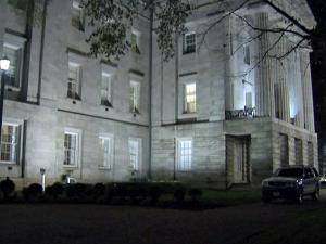 State Capitol police said that Douglas McClary, of Durham, broke into a window and climbed inside the State Capitol building around 2:30 a.m. Sunday, Dec. 6, 2009.