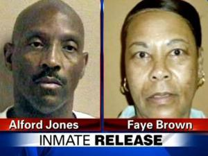 Inmates Alford Jones and Faye Brown