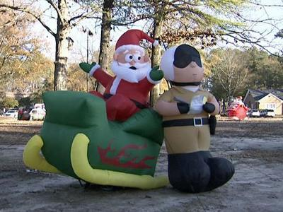 A real-life Grinch took more than $3,000 holiday decorations from the campus of North Carolina Wesleyan College in Rocky Mount on Dec. 8, 2009.