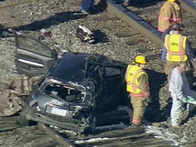 Authorities were on the scene of a wreck involving a train and a car in Efland on Tuesday morning.