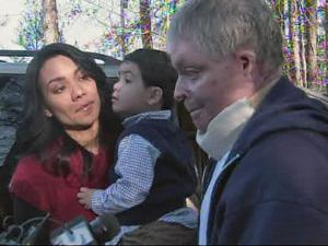 Robert Leffer, his wife, Amalia, and son returned to their renovated home on Christmas Eve.