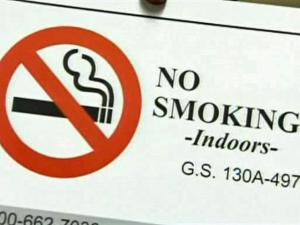 "North Carolina mailed 24,000 ""no smoking"" signs to bars and restaurants before a smoking ban took effect Jan. 2, 2010."