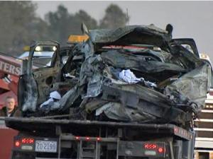 A couple from New Jersey died Tuesday morning after the man apparently fell asleep at the wheel, crashed and was hit by an 18-wheeler on Interstate 95 north near Dunn, according to troopers.