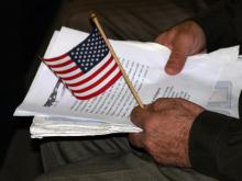A naturalization ceremony took place at the U.S. Citizenship and Immigration Services building in Durham on Friday, Jan. 22, 2010. WRAL's lead animation designer Shan Zhong was among those who became United States citizens.
