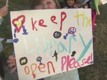 Garner residents want to keep library open