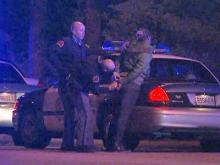 Raleigh police arrest a woman after a robbery, a chase and a crash.