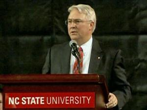 Students and faculty at North Carolina State University were given a chance Wednesday, Feb. 17, 2010, to meet chancellor-elect Randy Woodson during a welcome celebration at Reynolds Coliseum.