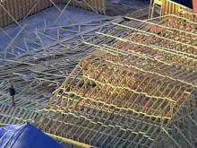 The roof of a Sampson County church collapsed on Thursday, Feb. 18, 2010.