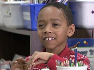 Justin Lumpkin, 7, is a natural leader.