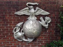 Marine Corps symbol at Camp Lejeune
