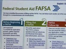Start applying early for college financial aid