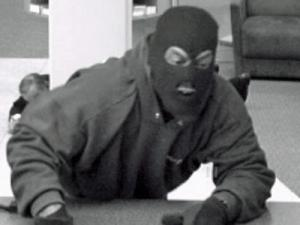 The suspect in the robbery of the SunTrust bank at 3620 Six Forks Road in Raleigh on Feb. 26, 2010 is shown in this photo.