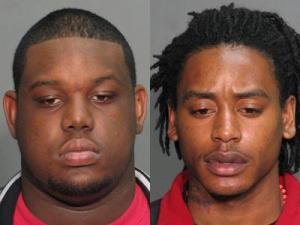 Shaequan Johnson, left, and Lyndon Ore